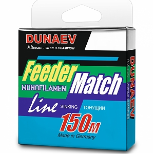 Леска Dunaev Feeder-Match Sinking Black 150м